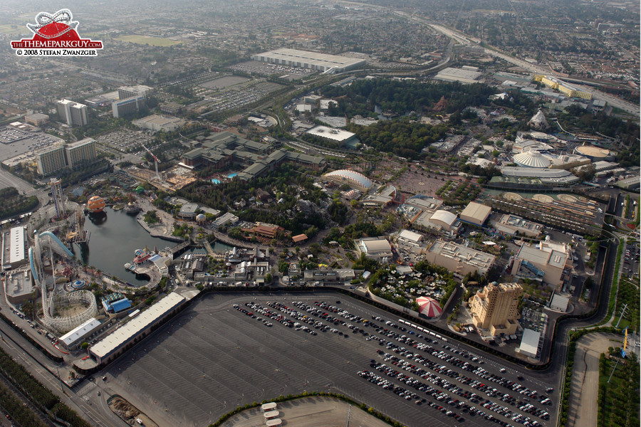 Disneyland Resort seen from the helicopter, May 2008