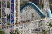 Paradise Pier roller coaster