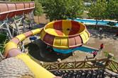 Bowl-shaped water slide