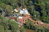 Aerial view of Dreamworld's zoo area