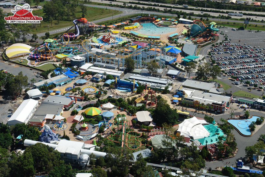 Dreamworld bird's-eye view