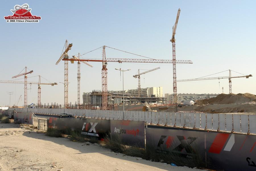 F-1 X theme park construction site