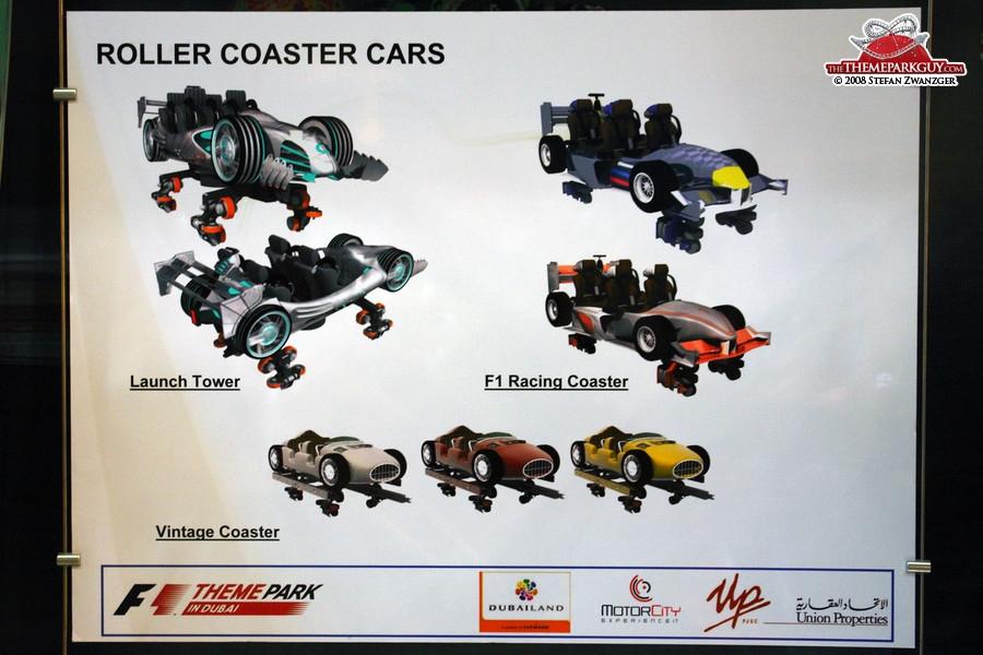 F-1 X coaster cars