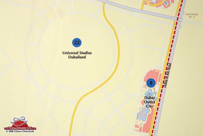 Dubailand map, the third
