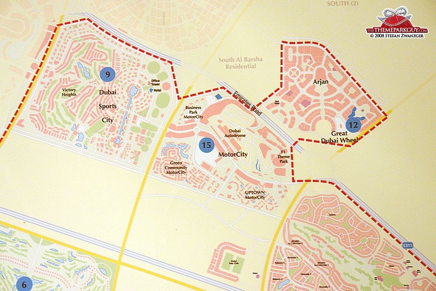 Dubailand map, the second