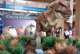 City of Arabia dinosaur exhibited at a local trade fair