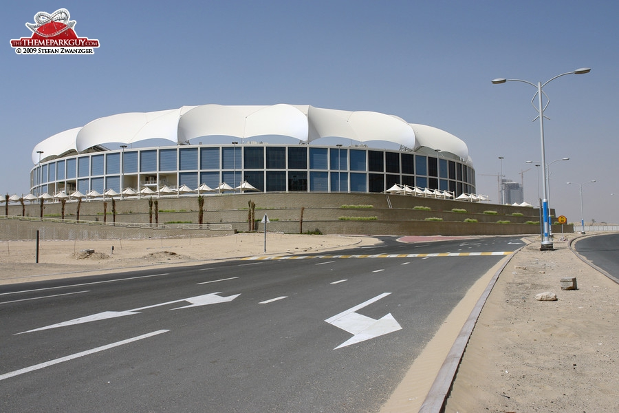 Cricket stadium in Dubai Sports City