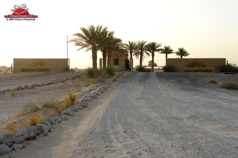 Al Sahra Desert Resort entrance