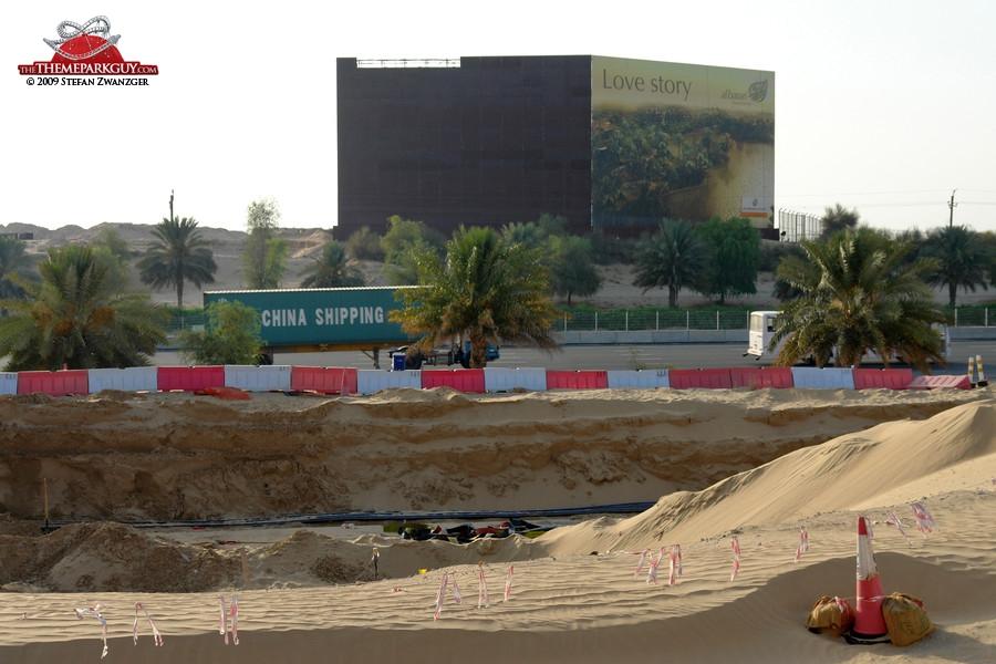 Half-empty billboard