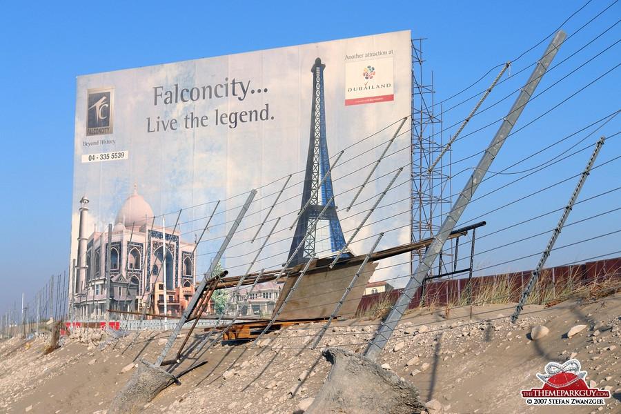 Falcon City of Wonders billboard