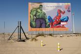 Marvel theme park billboard