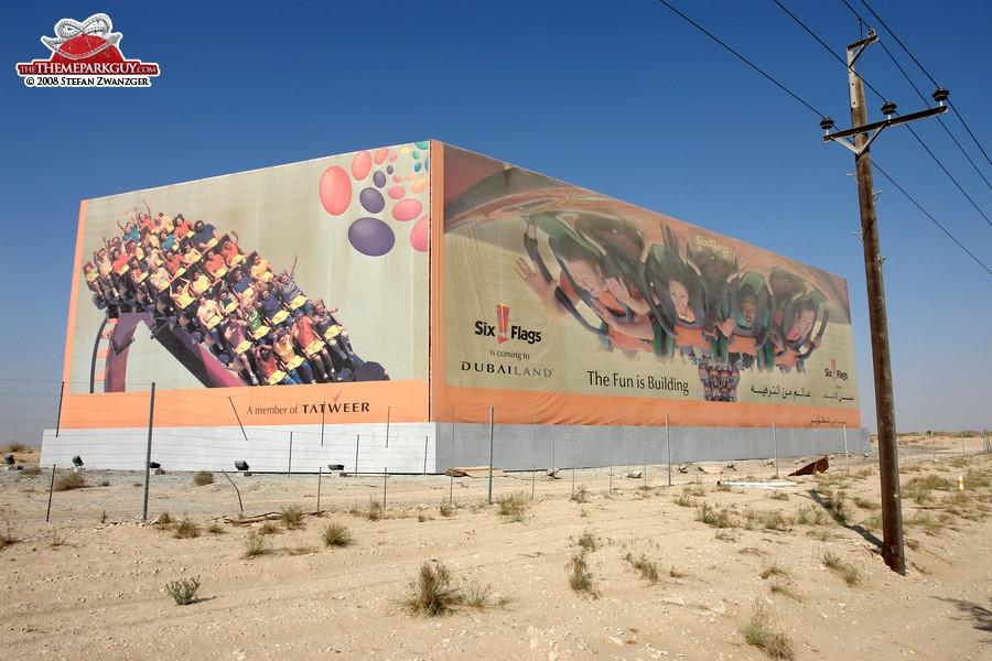 Six Flags Dubailand billboard