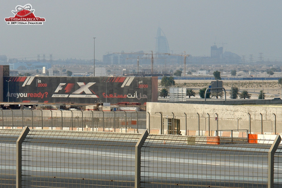 F-1 X billboard, with Burj Al Arab in the background
