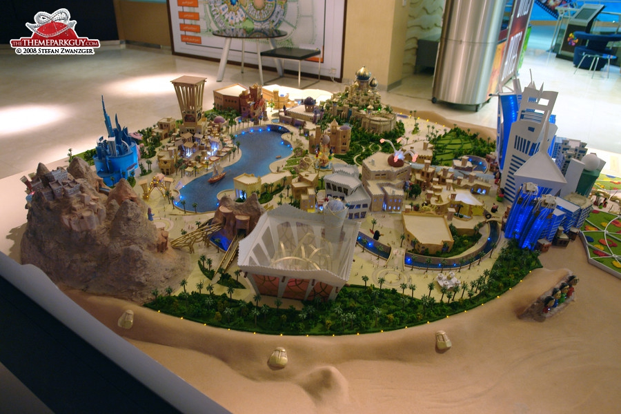 Freej theme park model in the sales center