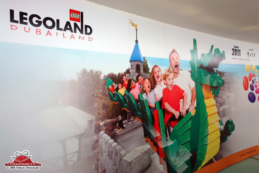 Legoland poster in the sales center