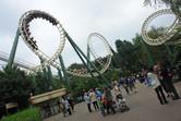 Looping roller coaster at Efteling