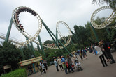 Looping roller coaster at Efteling