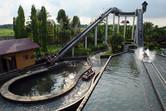 Enchanted Kingdom log flume ride
