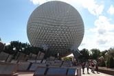 Epcot's landmark, the Spaceship Earth globe
