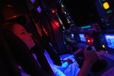Inside the simulator (it's a bit claustrophobic)