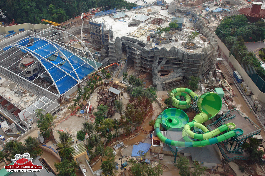 Will the massive building at the top be part of the water park?