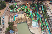 Singapore water park under construction, December 2011