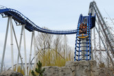 Hybrid of roller coaster and water ride