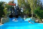 Body slide with a flying section