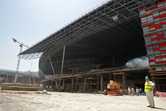 The giant Ferrari World structure