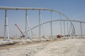 Massive Ferrari World roller coaster