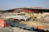 Ferrari World construction site, October 2009