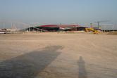 It's the Ferrari World Abu Dhabi theme park under construction