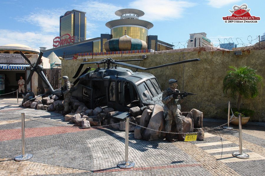 Crashed helicopter, Middle Eastern setting?