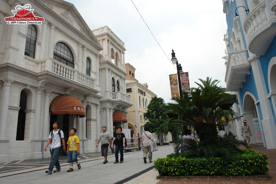 Street, filled with restaurants and shops