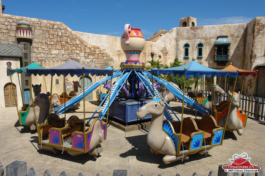 Peaceful camel carousel