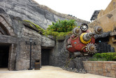 Volcano entrance (with Disney Sea inspiration on the right)