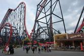 Eejanaika roller coaster at Fuji-Q