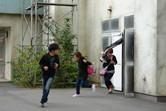 Fleeing visitors