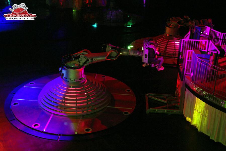 Futuristic robot arms