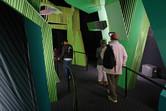 Futuristic walk-through attraction