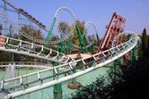 Classic looping roller coaster