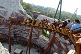 Mine train on-ride view