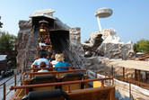Mine train, with look-out in the background