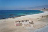 Beach in front of Mirbat castle