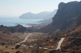 Empty road to Fazayah beach