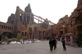 Massive Atlantis flying roller coaster