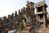 Classic mine train roller coaster