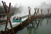 Steaming river rapids ride