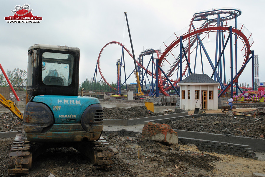 Dive coaster in the making