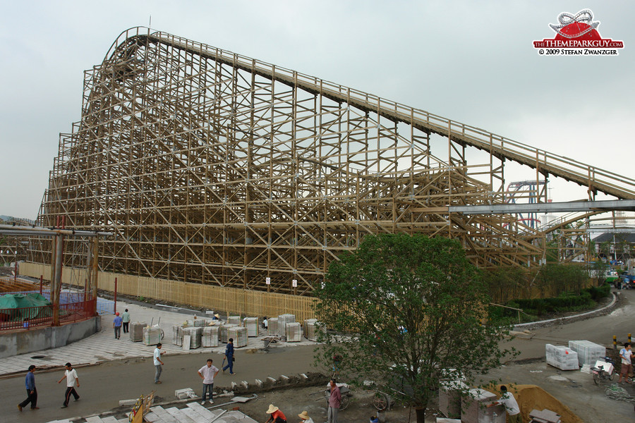 Happy Valley Sheshan wooden coaster
